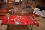 Linda Clave's table after the reading of the Popol Vuh